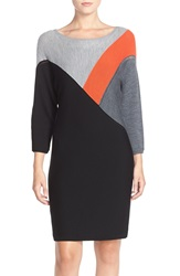 Trina Turk 'Solene' Merino Wool Sweater Dress Black Grey Multi
