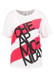 Cheap Monday Breeze Print Tshirt White