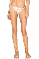 Minkpink Spread Like Wildflowers Bikini Bottoms Yellow