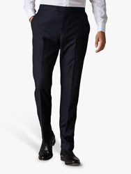 Jaeger Checkerboard Slim Fit Suit Trousers Navy