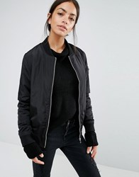 New Look Padded Bomber Black