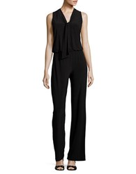 Laundry By Shelli Segal Front Tie Sleeveless Jumpsuit Black