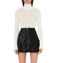 Free People Turtleneck Knitted Jumper Ivory