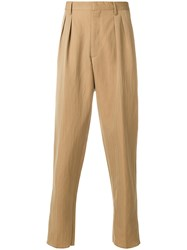 Gabriele Pasini Double Pince Trousers Nude And Neutrals