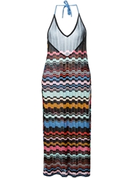 Missoni Crochet Knit Halter Dress