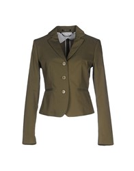 Strenesse Gabriele Strehle Suits And Jackets Blazers Women Military Green