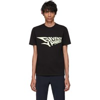 Givenchy Black Glow In The Dark Slim Fit T Shirt 001 Black