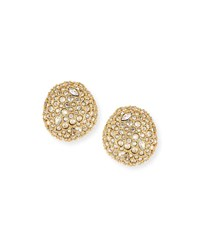 Alexis Bittar Pave Crystal Pod Button Earrings Gold