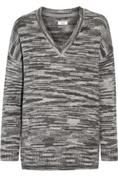 Vince Marled Wool Blend Sweater Charcoal