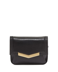 Time's Arrow Calfskin Chevron Detail Belt Bag Black