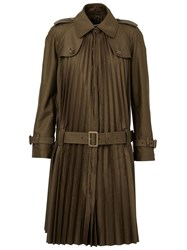 Junya Watanabe Comme Des Gara Ons Pleated Trench Choat Green