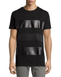 Sovereign Code Bladwin Perforated Faux Leather Tee Black