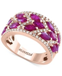 Effy Final Call Ruby 3 1 4 Ct. T.W. And Diamond 1 3 Ct. T.W. Ring In 14K Rose Gold