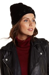 David And Young Embellished Solid Beanie Black