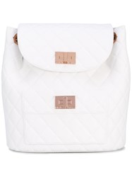Designinverso Quilted Backpack Women Polyurethane One Size White