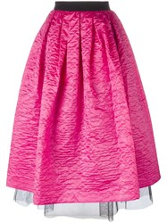 Marc Jacobs Crinkle Taffeta Full Skirt Pink Purple