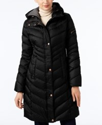 Marc New York Chevron Hooded Down Coat Black