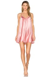 Amanda Uprichard Deep V Slip Dress Pink