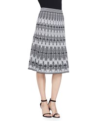 M Missoni Tie Dye Open Knit Midi Skirt Black