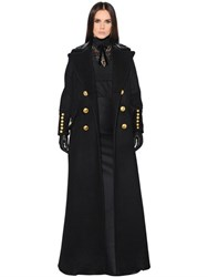 Dsquared Military Style Felted Wool Coat