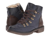 Spring Step Sine Navy Women's Lace Up Boots