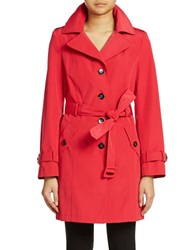 Calvin Klein Single Breasted Trenchcoat Red