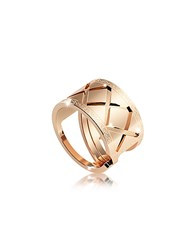 Rebecca Melrose Yellow Gold Over Bronze Ring Golden Yellow