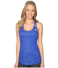 New Balance Nb Ice Tank Top Majestic Multi Majestic Blue Women's Sleeveless
