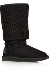 Australia Luxe Collective Fame Tall Shearling Boots Black