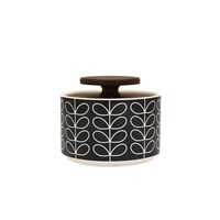 Orla Kiely Linear Stem Sugar Bowl Dark Grey