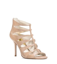 Michael Kors Mavis Open Toe Leather Sandal Dark Khaki