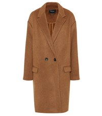 Isabel Marant Filipo Wool And Cashmere Blend Coat Brown
