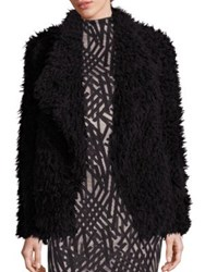 Tart Ari Glam Faux Fur Jacket Cream Black