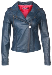 Moods Of Norway Anja Merethe Leather Jacket Navy Blue