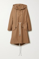 Bassike Hooded Cotton Gabardine Jacket Beige