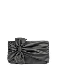 Jessica Mcclintock Dee Gathered Bow Clutch Pewter