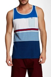 Burnside Striped Tank Blue