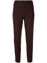 Tomorrowland High Waisted Slim Fit Trousers Brown