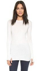 Enza Costa Cuffed Crew Neck Top Ash