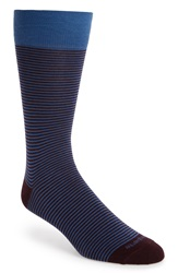 Etiquette Clothiers 'Thousand Stripes' Socks Bordeaux