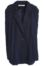 Chalayan Cape Effect Twill Vest Navy