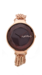 Rumbatime Orchard Chain Watch Black Diamond