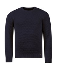 Realm And Empire Made In England Chunky Wool Jumper Navy