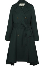 Acne Studios Olwen Twill Trench Coat Forest Green