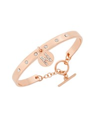 Bcbgeneration Say My Name Glass Stone N Toggle Bracelet Rose Gold