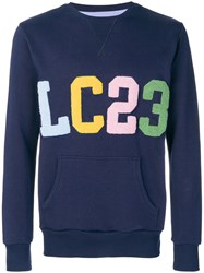 Lc23 Logo Patch Sweater Blue