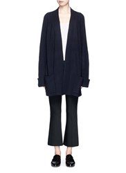 The Row 'Carissia' Cashmere Silk Cardigan Blue