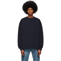 Dries Van Noten Navy Holford Kangaroo Sweatshirt
