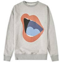 Saturdays Surf Nyc Saturdays Bowery Open Mouth Crew Sweat Grey