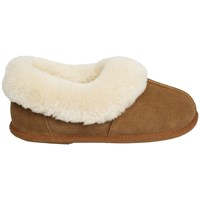 Just Sheepskin Scooped Out Slippers Chestnut